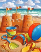 Sand Castle Beach Toys  white