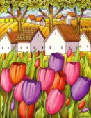 tulips countryside