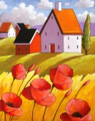 Countryside Poppies Scenery