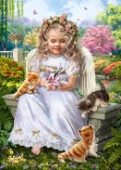 Angel with Kittens
