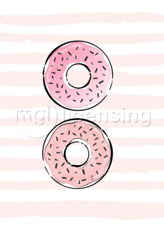 Pink donuts illustration