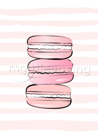 Pink macarons illustration